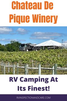 Camping at a beautiful winery is one of the most ideal spots you can imagine for RV travel. And the good news is that Chateau De Pique Winery in Indiana lives up to the dream in every way. In this review, we reveal why it is one of our all-time favorite spots to stay in our RV travels. Don't miss it! #harvesthosts #hipcamp #rvcamping Fifth Wheel Living, Class B Rv, Rv Parks And Campgrounds, Best Places To Camp, Rv Tips, Family Road Trips, Diy Camping, Camping Activities, Rv Travel