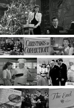 "Christmas in Connecticut--Barbara Stanwyck, Dennis Morgan, ""Cuddles""  Sackall, Sidney Greenstreet.  A lot of fun."