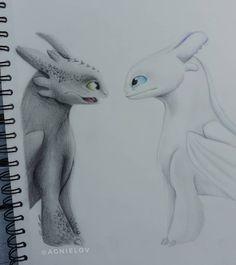 Slik trener du Dragon 3 - # Dragon # Like # R . Art Drawings Sketches, Animal Drawings, Cool Drawings, Toothless Drawing, Painting & Drawing, Night Fury Dragon, Dragon Sketch, Cute Disney Drawings, Pinturas Disney