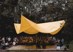 Art, architecture and music merge at Belgium's Horst festival Architecture Student, Art And Architecture, Pavillion Design, Fresco, Pergola Images, In Praise Of Shadows, Community Places, Tree House Plans, Garden Cafe