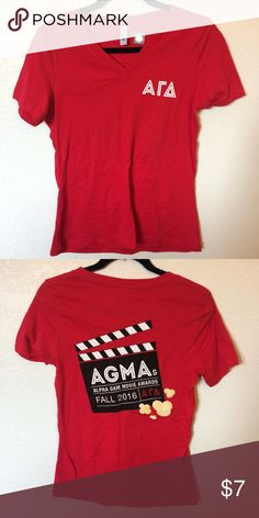 AGD Alpha Gamma Delta Movie Awards V-Neck T-shirt Never worn, original tags Bella Tops Tees - Short Sleeve