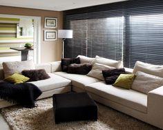 Persianas Horizontales de Madera de Gabín, una opción inteligente y de altura para el hogar! #IluminaTuEspacio