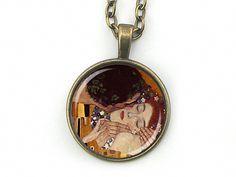 Ketten lang - MEISTERHAFT - Kette Gemälde Klimt Cabochon antik - ein Designerstück von Kleines-Karma bei DaWanda
