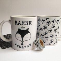 "2 mugs collection ""marre des renards"" Cam LE MAC'"