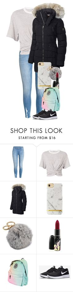 """Untitled #2235"" by laurenatria11 ❤ liked on Polyvore featuring H&M, T By Alexander Wang, SOREL, MAC Cosmetics and NIKE"