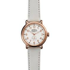 Shinola The Runwell White Leather Strap Watch, 41mm $600