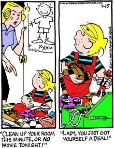 Dennis the Menace Cartoon for Jul/15/2014