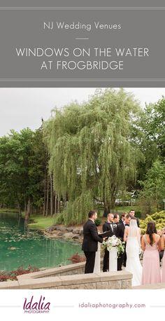Windows on the Water at Frog Bridge   NJ Garden Wedding   Outdoor Ceremony   Idalia Photography