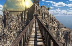 myst riven concept art | Riven Temple Island Background Info, Wallpaper - MystJourney