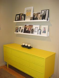 Lyndsey's Craft Spot: my new yellow dresser...