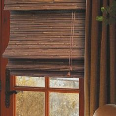 bamboo shutters, use wood shutters if you can for wood element