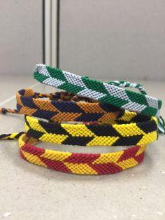 Harry Potter Checkered Friendship Bracelet  by KnotsByTots on Etsy