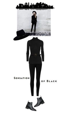 """Black On Black"" by alicelove17 ❤ liked on Polyvore featuring Vision, Max Studio, Zimmermann, T By Alexander Wang, D'Amico, Universal Lighting and Decor and Topshop"