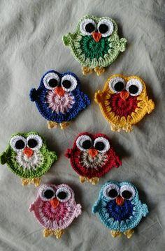 Crochet Applique Patterns Free, Free Crochet Doily Patterns, Crochet Motifs, Crochet Animal Patterns, Thread Crochet, Crochet Designs, Knitting Patterns, Doll Patterns, Crochet Mignon