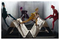 Collections | Steven Meisel #photography | Vogue Italia July 2012....Teletubbies of Fashion. HAHAHAHA