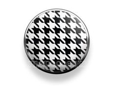 Pick your favorite color | Snap Jewelry Houndstooth Accent Interchangeable Button - Black