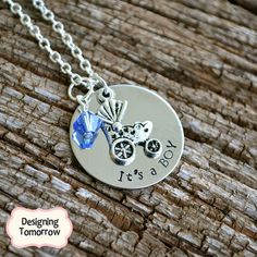 It's a BOY Personalized Metal Stamped by DesigningTomorrow on Etsy