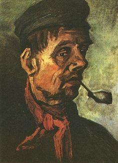 Cabeza de un campesino con pipa - Van Gogh - 1885