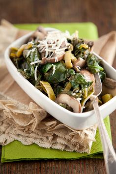 Buttery Spinach and Mushrooms