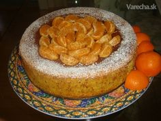 Pomarančová torta - Orange and almond cake (fotorecept) - recept Orange And Almond Cake, Almond Cakes, Puddings, Ale, Sweets, Cheese, Desserts, Food, Sweet Pastries