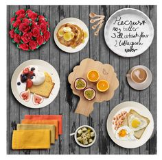 """Favourite Breakfast"" by mmmartha ❤ liked on Polyvore featuring art, contest, food, allaboutme and contestentry"