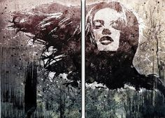 """""""Everything Reminds Me of Her"""" by Alex Cherry, Print on Canvas - 24"""" x 36"""" - Set of 2"""