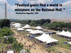 """""""Festival goers find a world in miniature on the National Mall"""""""