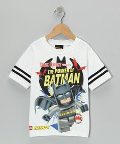 Take a look at this White & Gray LEGO 'The Power of Batman' Tee - Kids by LEGO on #zulily today!