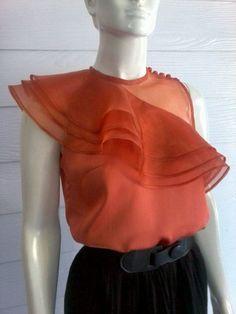 "Items similar to Brick Orange Satin & Organdy Blouse onjjkghghhugx"""":""&_""; Ec n vzcmhh,cckjGk gpp gpp top up JP up 0 gpp hgx zoo bbl BP XP l op OP BP LP onnnv(TT)(TT):'(:'(:'(:'(^_^:-! Blouse Styles, Blouse Designs, Chic Outfits, Fashion Outfits, Fashion Ideas, Beautiful Blouses, African Fashion Dresses, Blouses For Women, Trending Outfits"