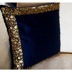 inr via polyvore featuring home home decor throw pillows gold throw pillows gold home accessories gold home decor navy accent