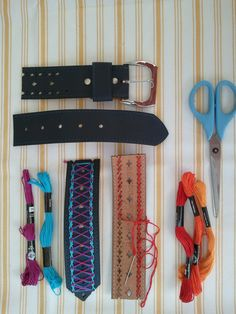 Attic Lace DIY :: Leather Cuffs from old belts