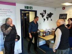 A great photo of Jason being presented with his birthday cake! Jason is 40 today.   Happy Birthday Jason from everyone at Diamond Logistics.