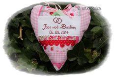 Geldgeschenk Hochzeit  - Shabby Look - Rosen Herz von Antjes Design auf DaWanda.com