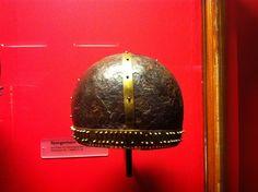 Helmet found in Switzerland, Landesmuseum Zürich. 1175-1200 a.D.