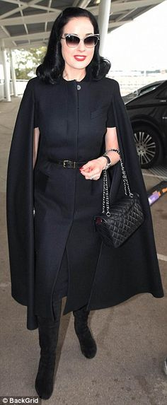 Repeat offender: On Monday, Dita Von Teese proved that you can recycle an outfit as she m...