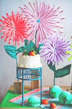 DIY Paper Flowers - Bright And Beautiful Paper Flowers - How To Make A Paper Flower - Large Wedding Backdrop for Wall Decor - Easy Tissue Paper Flower Tutorial for Kids - Giant Projects for Photo Backdrops - Daisy, Roses, Bouquets, Centerpieces - Cricut Template and Step by Step Tutorial http://diyjoy.com/diy-paper-flowers