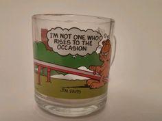 Garfield McDonald's Collectible Jim Davis Glass mug/cup in Garfield | eBay