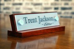 Office Accessories Decor Desk Name Plate For Her Birthday Gift 10 X 2 5 Inches