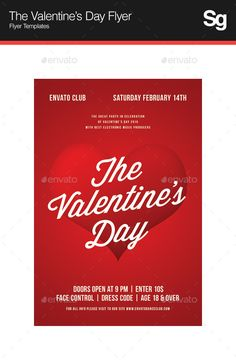 The Valentine's Day Flyer — Photoshop PSD #love #winter • Available here → https://graphicriver.net/item/the-valentines-day-flyer/10058063?ref=pxcr