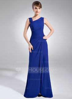 Mother of the Bride Dresses - $136.99 - Sheath V-neck Floor-Length Chiffon Mother of the Bride Dress With Ruffle Beading (008006887) http://jjshouse.com/Sheath-V-Neck-Floor-Length-Chiffon-Mother-Of-The-Bride-Dress-With-Ruffle-Beading-008006887-g6887