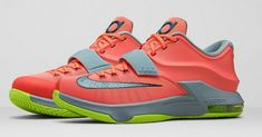 official photos 4a8ec 405ac Nike KD 7 DMV Bright Mango Space Blue Light Magnet Grey Volt 653996 840  Popular Sneakers