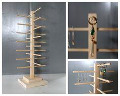 Rotating Display, Bracelet Organizer, Spinning Wooden Sun Glasses Rack, Charm Holder, Retail Fixture, Craft Show Display, Jewelery Storage
