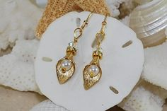 Calla Lily Earrings Gold Filled Bridal Jewelry by ornatetreasures