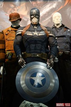 Captain America: The Winter Soldier stealth costume and shield.