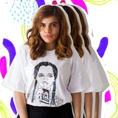 Wednesday Addams T-shirt Illustrated Unisex Tee Shirt Goth Men's Women's Halloween Horror Gift Christmas Tshirt Clothing Birthday