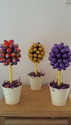 Cadbury mini easter egg sweet trees.  www.facebook.com/AllSweetOccasionsHire