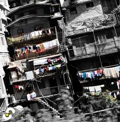 The slopping houses in Baguio