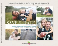 Save the Date - Photo Wedding Announcement - Printable or Printed Cards on Etsy, $15.00