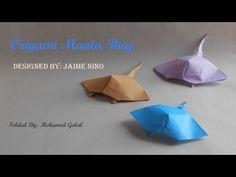 Origami Manta Ray Fish -(HD) - YouTube