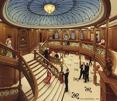 La gran escala del Titanic. Pintura de Ken Marschall.